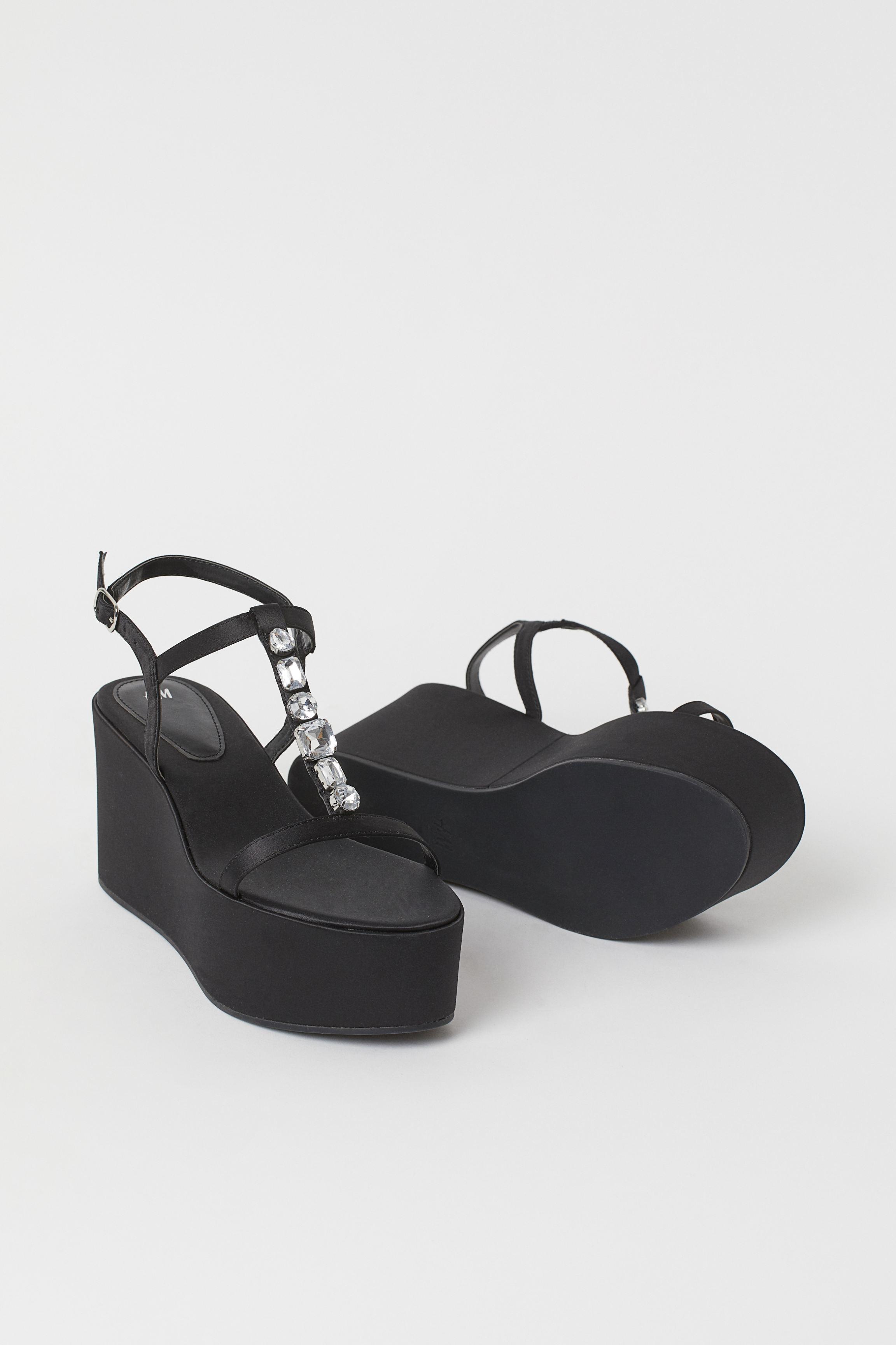 Platform Wedge-heel Sandals