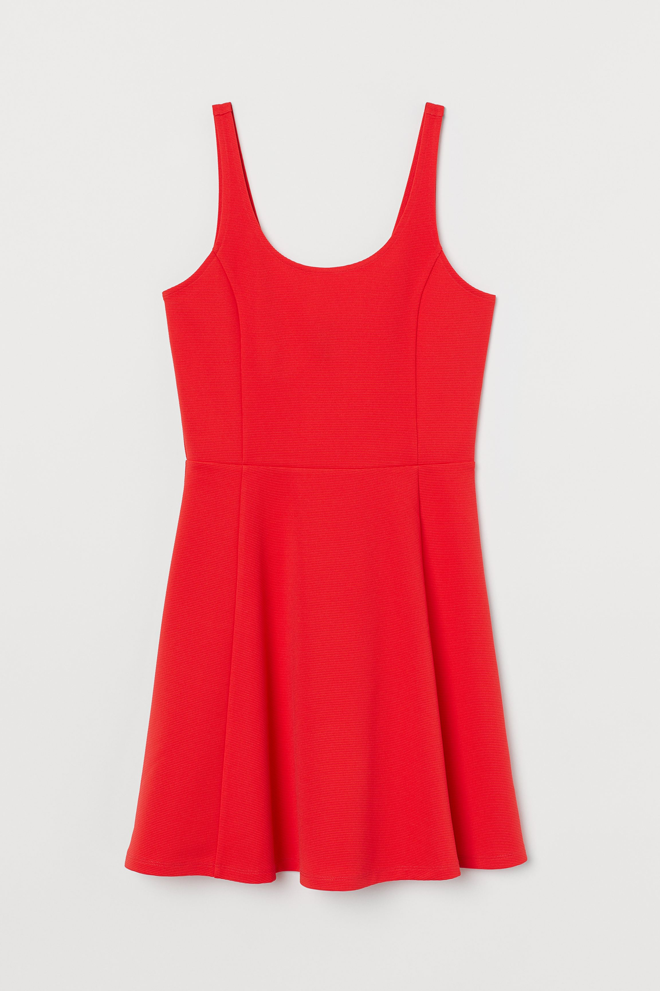 Circle-skirt Jersey Dress