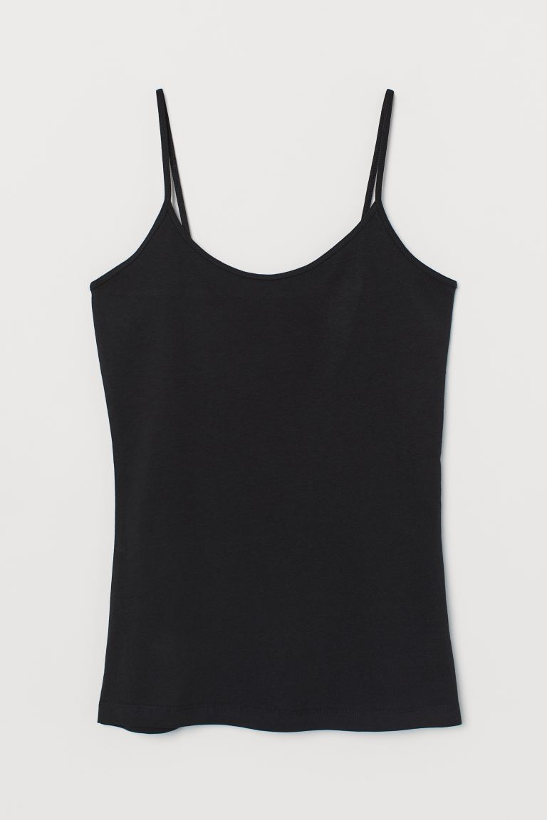 Jersey strappy top - Black - Ladies | H&M