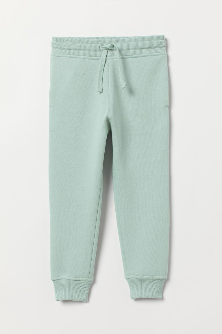Brushed-inside Joggers - Mint green - Kids | H&M CA
