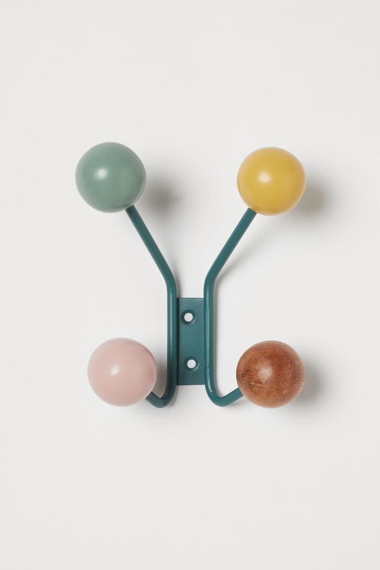 Hanger Rack in Metal and Wood - Green - Home All | H&M US