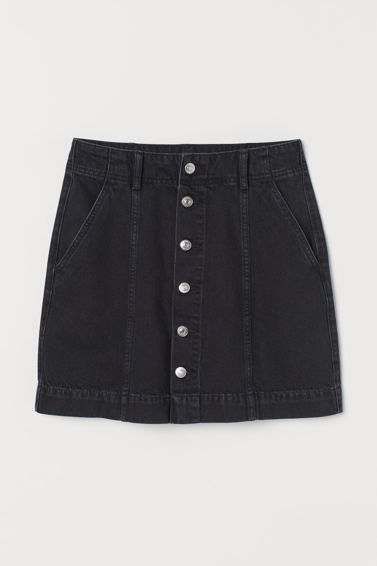 A-line skirt - Black/Washed - Ladies | H&M GB