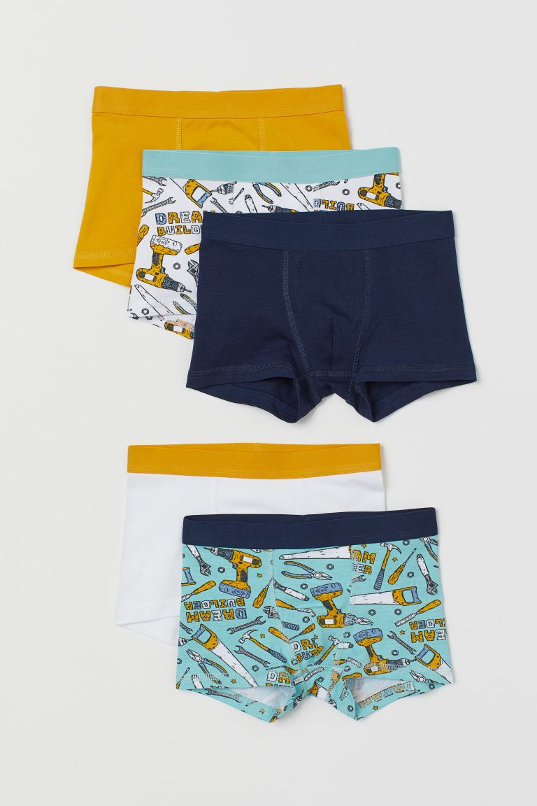 5-pack boxer shorts - Turquoise/Tools - Kids | H&M