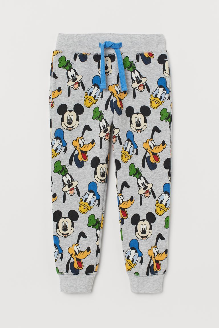 Sweatpants - Light grey marl/Disney - Kids | H&M GB