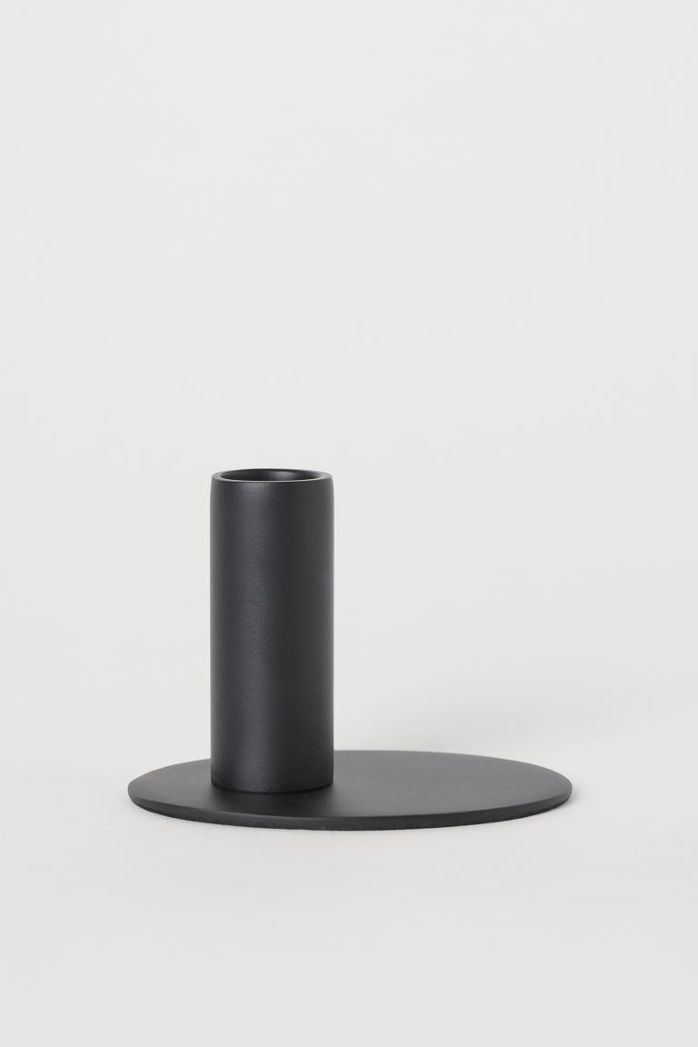 Metal Candlestick - Black - Home All | H&M US