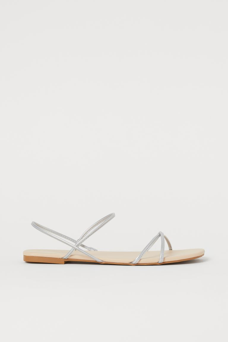 Sandals - Silver-coloured - Ladies | H&M IN