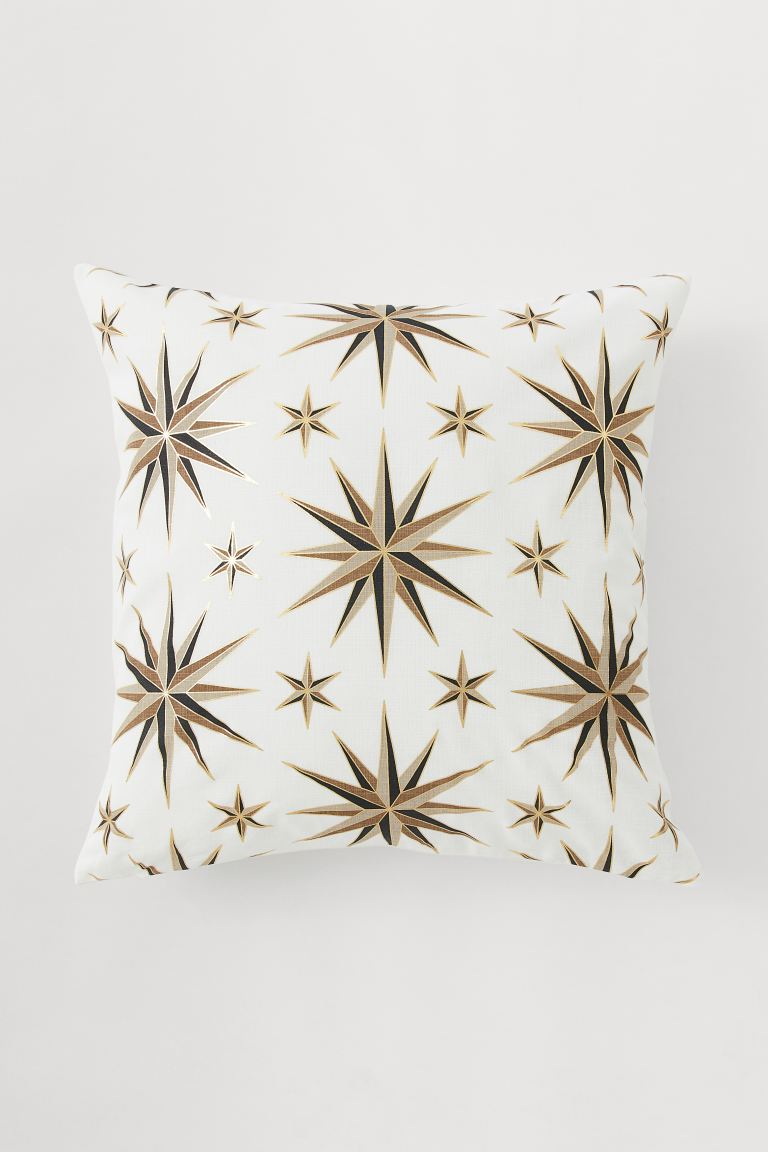 Patterned Cushion Cover - White - Home All | H&M US