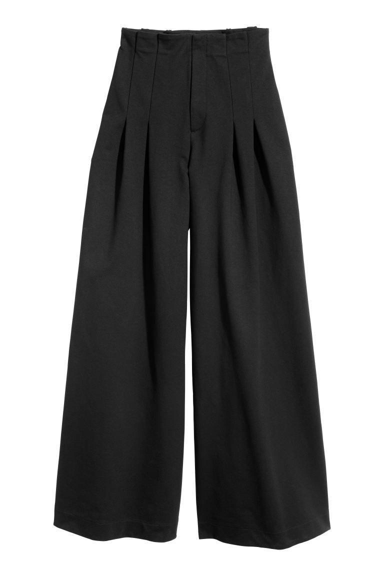 Wide-cut Pants - Black - Ladies | H&M CA