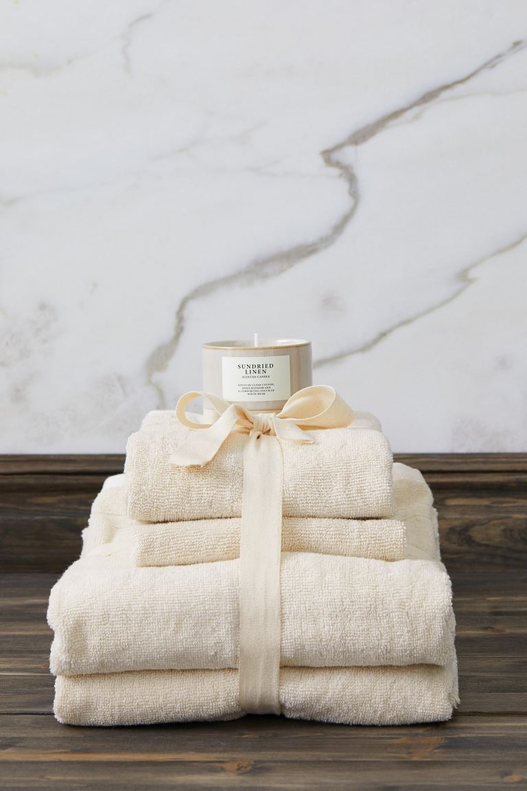 Set asciugamani in cotone - Bianco naturale - HOME | H&M IT