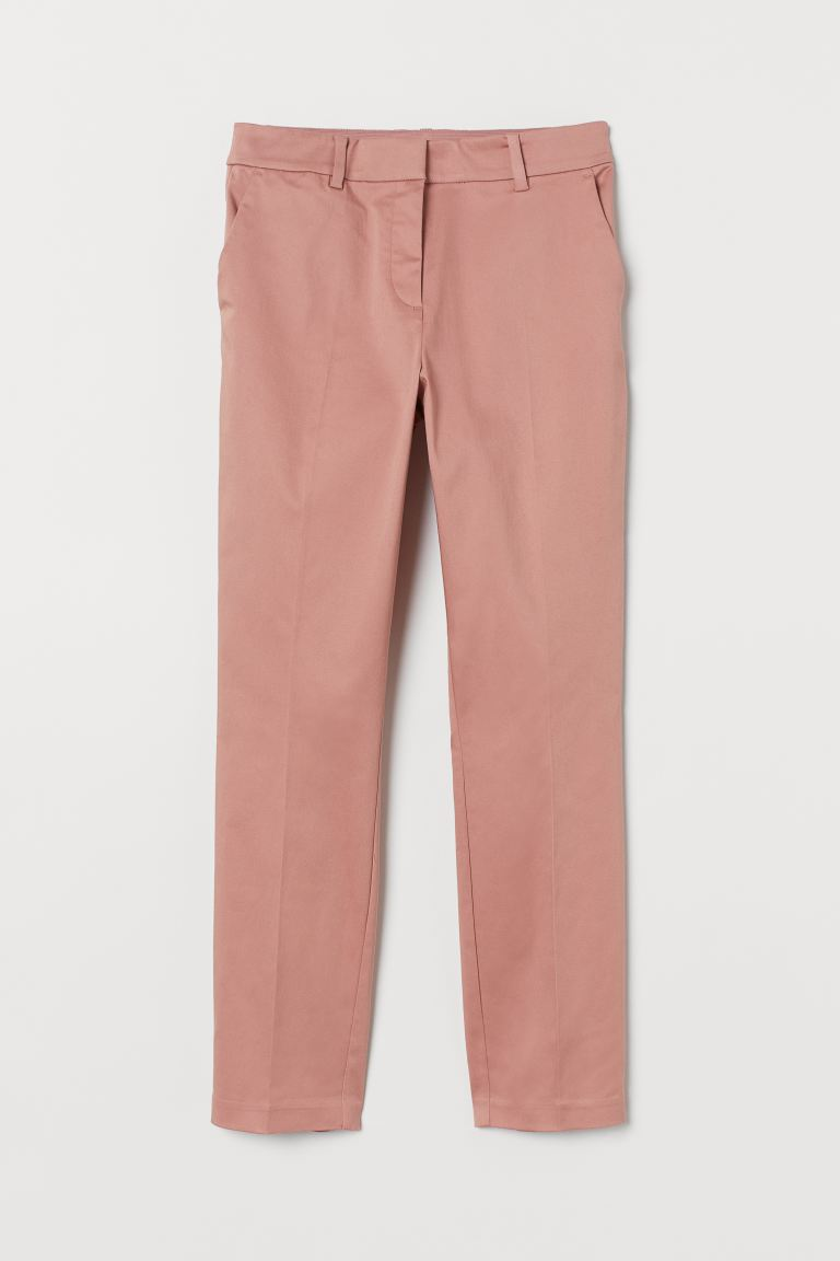 Cigarette trousers - Old rose - Ladies | H&M GB