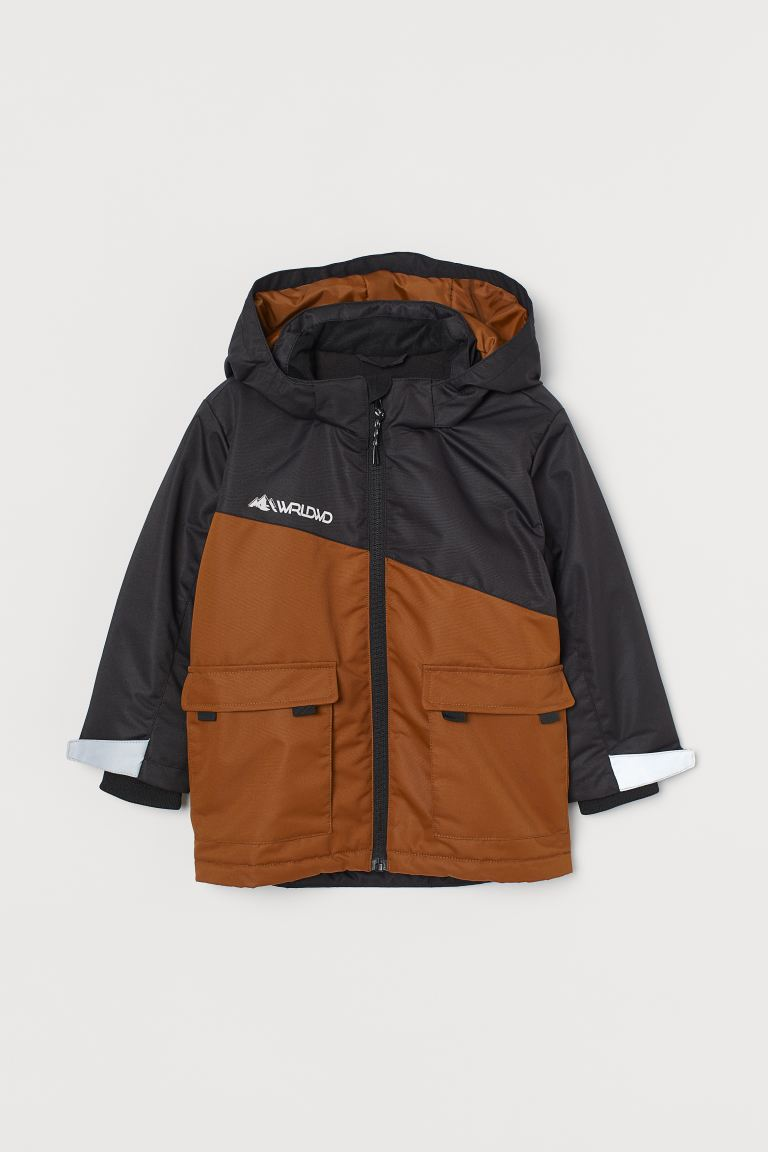 Water-repellent padded jacket - Black/Brown - Kids | H&M GB