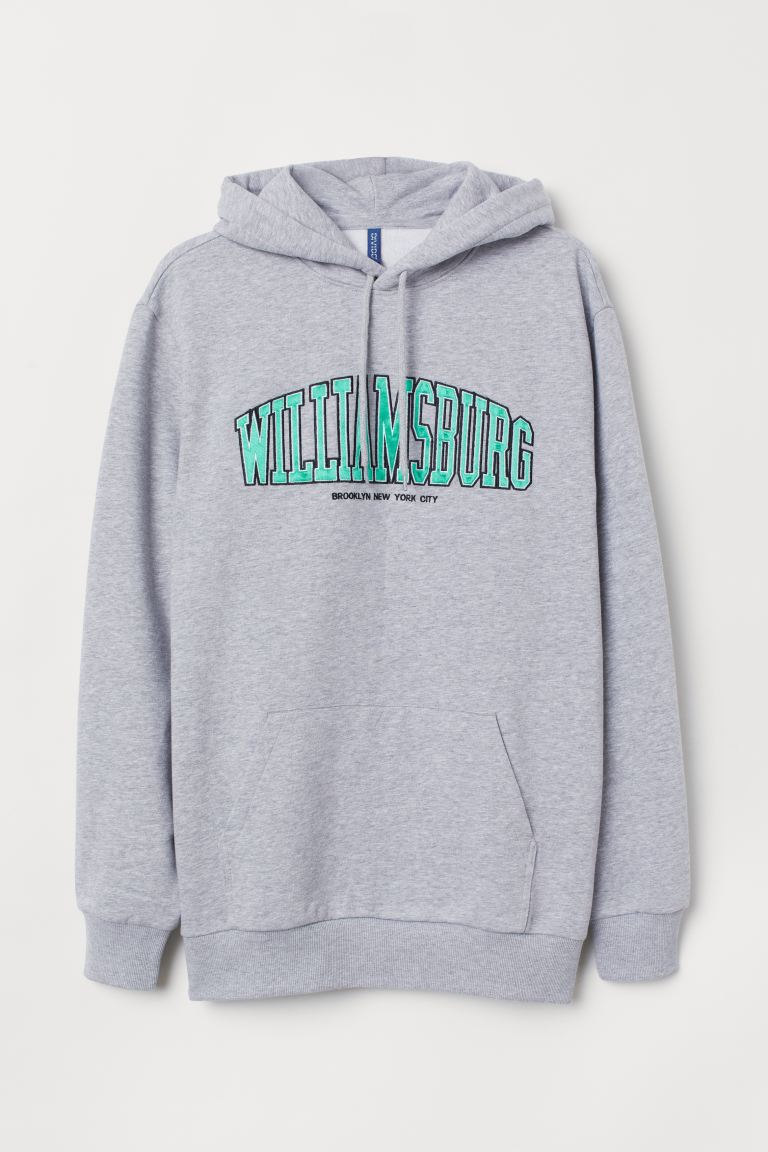 Hoodie - Gray melange/Williamsburg - Men | H&M CA