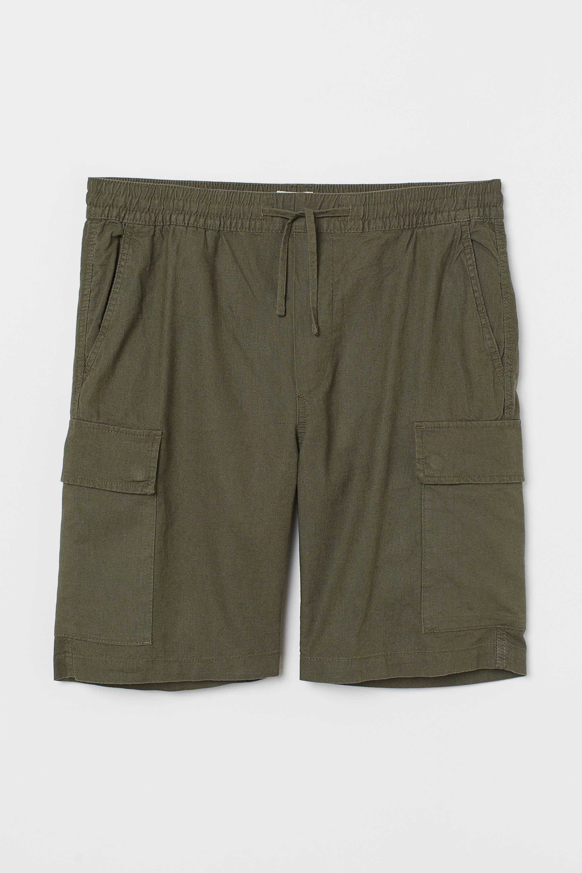 Linen-blend Utility Shorts