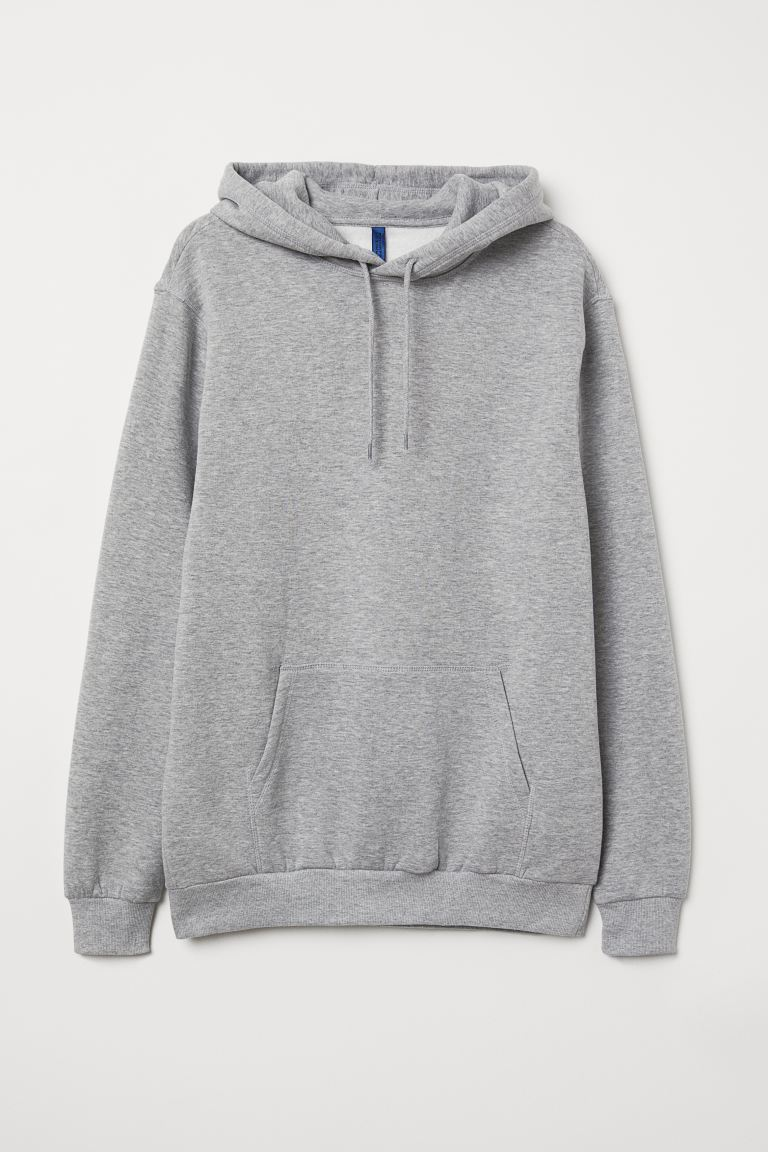 Hoodie Relaxed Fit - Grey marl - Men | H&M IN