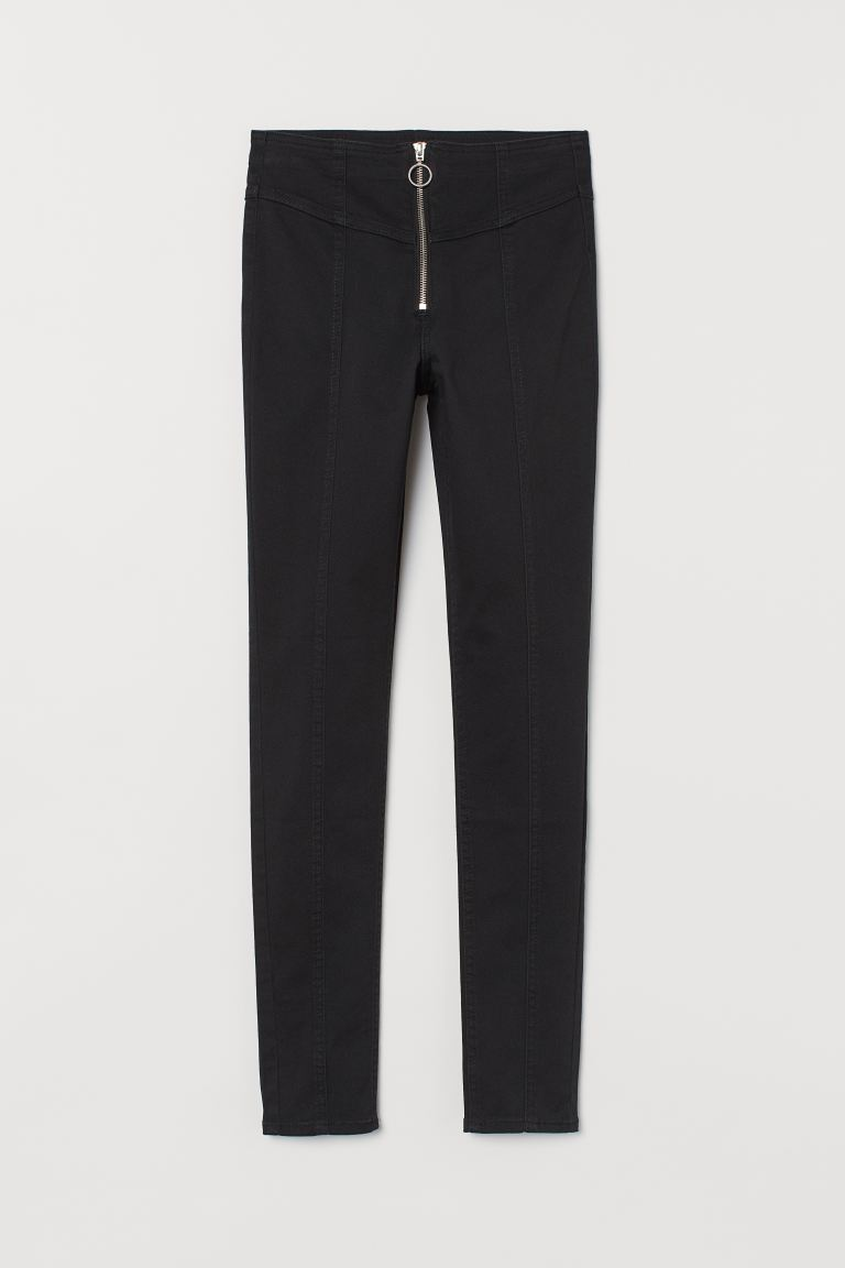 Pantaloni in twill High Waist - Nero - DONNA | H&M CH