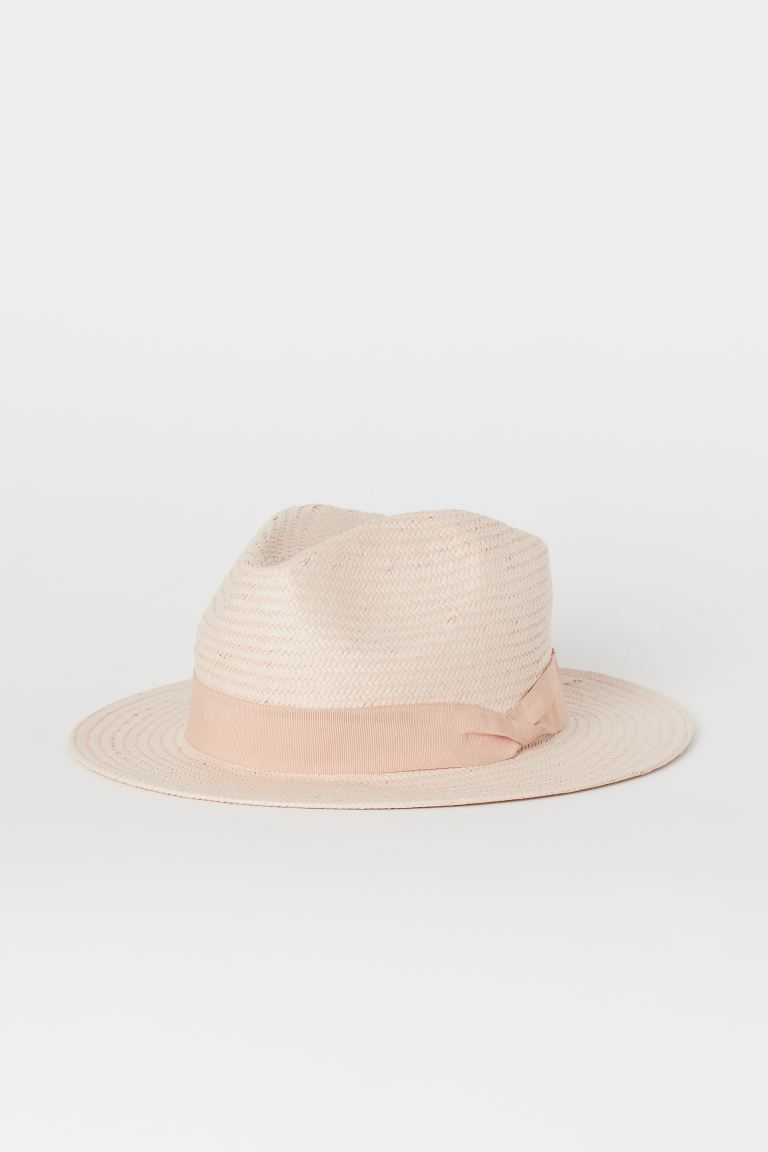 Straw Hat - Light pink - Ladies | H&M CA