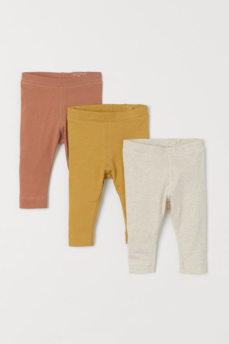 3er-Pack Leggings - Senfgelb - Kids | H&M DE