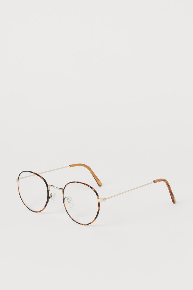 Clear-lens glasses - Brown/Tortoiseshell-patterned - Men | H&M