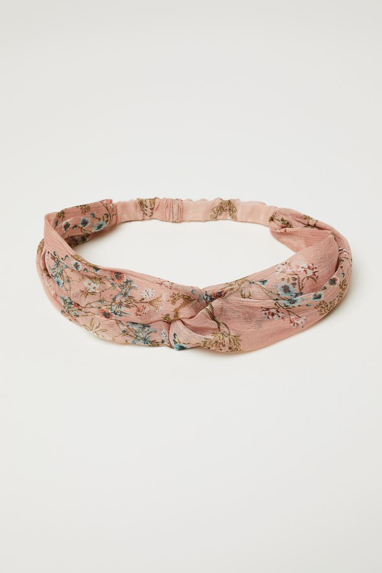Hairband with Knot Detail - Vintage pink/floral - Ladies | H&M US