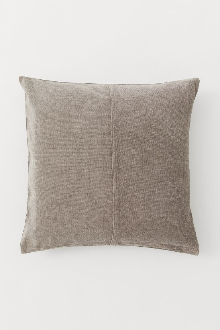 Kussenhoes van chenille - Taupe - HOME | H&M NL