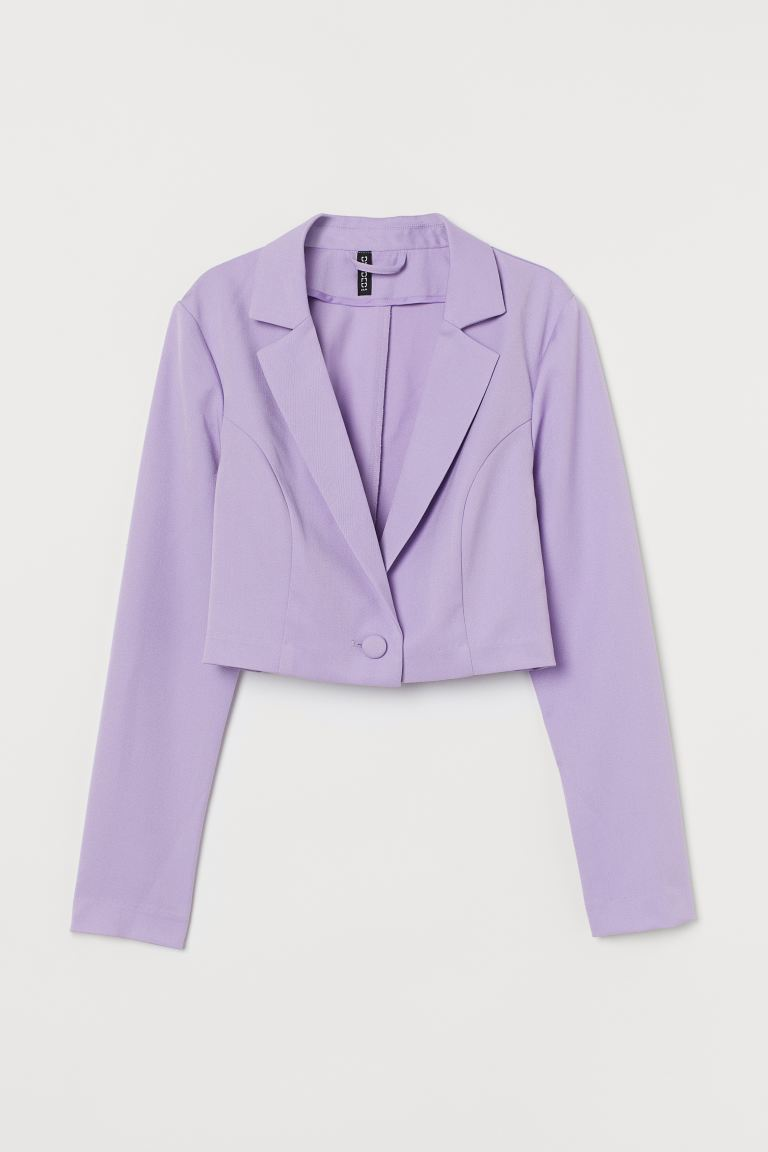 Cropped blazer - Light purple - Ladies | H&M IN