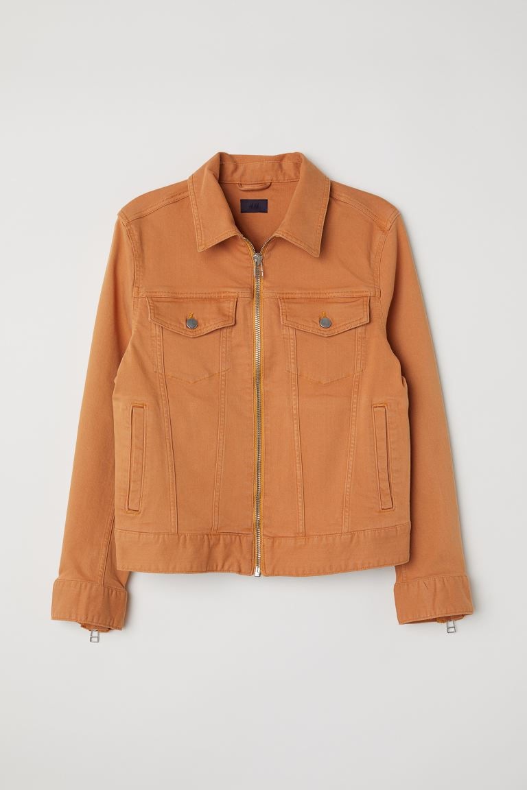 Denim jacket - Orange - Men | H&M GB