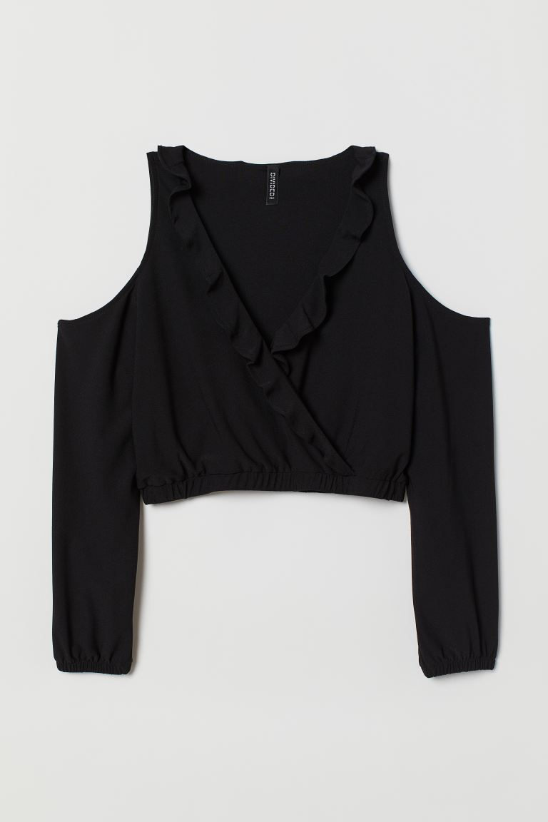 Open-shoulder Top - Black - Ladies | H&M CA