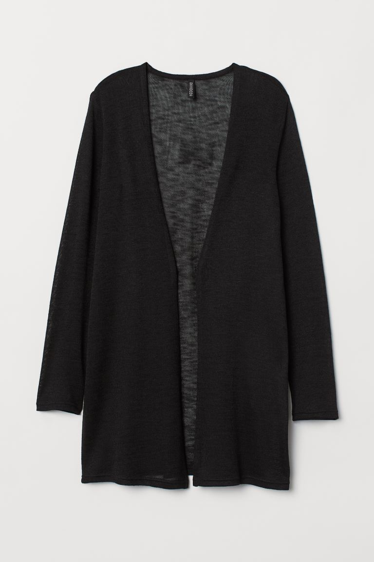 Loose-knit Cardigan - Black - Ladies | H&M CA
