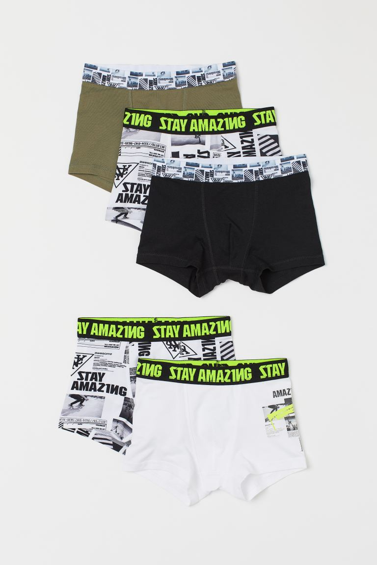 5-pack boxer shorts - White/Skateboarder - Kids | H&M