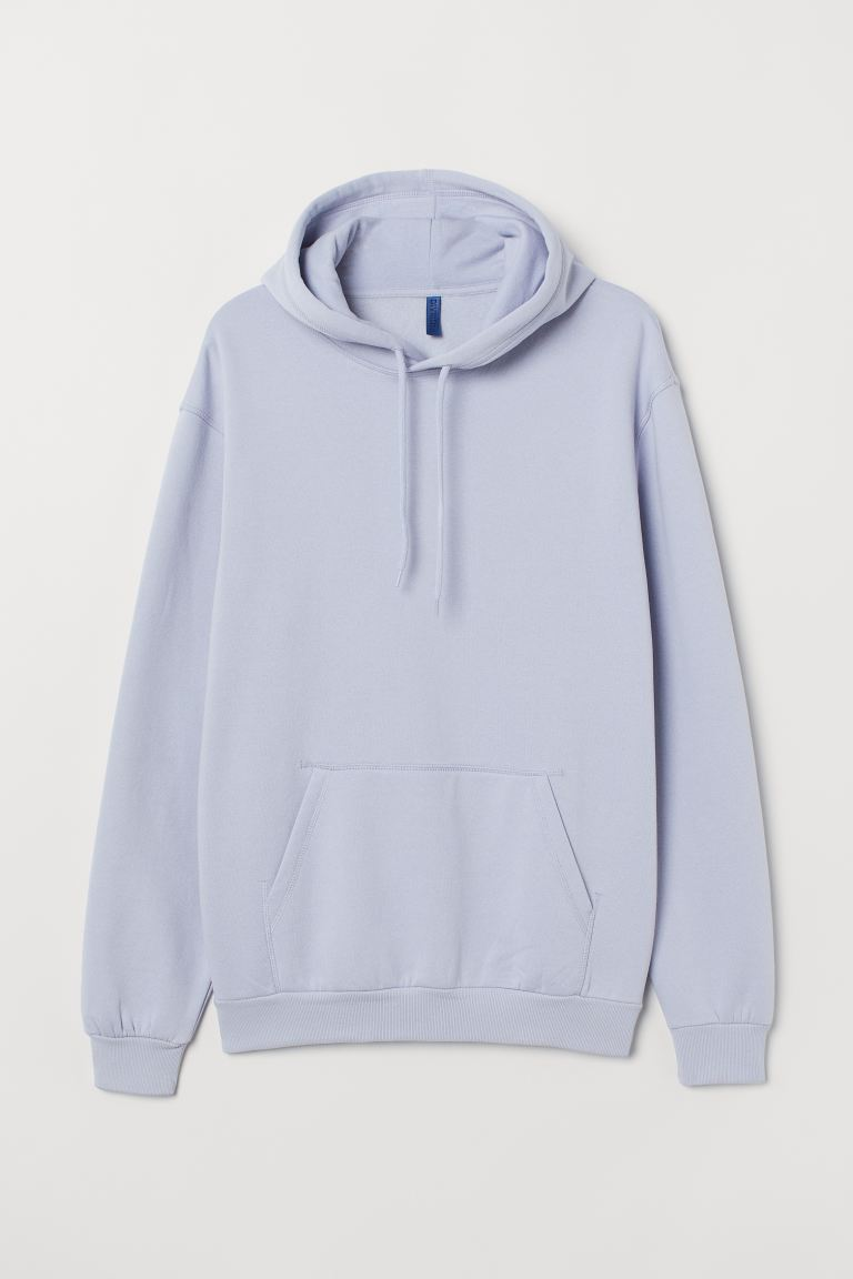 Relaxed Fit Hoodie - Light purple - Men | H&M