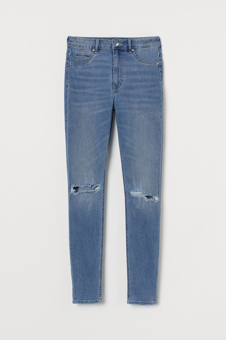 Curvy High Waist Jegging - Denim blue - Ladies | H&M AU