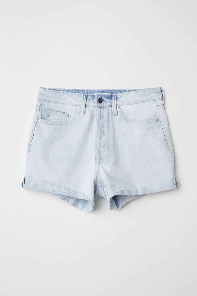 Denim Shorts - Light denim blue - Ladies | H&M US