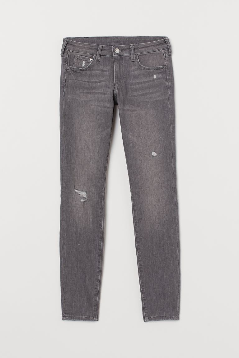 Super Skinny Low Jeans - Hellgrau/Washed - Ladies | H&M AT