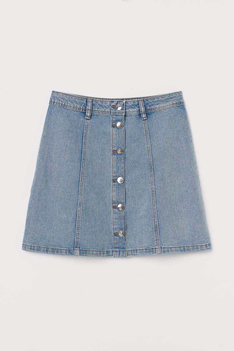 A-line Skirt - Light denim blue - Ladies | H&M AU