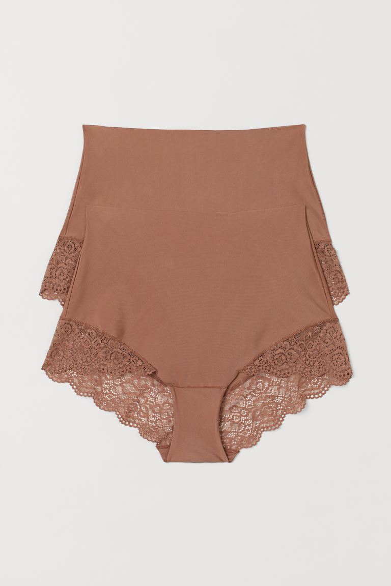 2-pack Light Shaping Briefs - Light brown - Ladies | H&M US