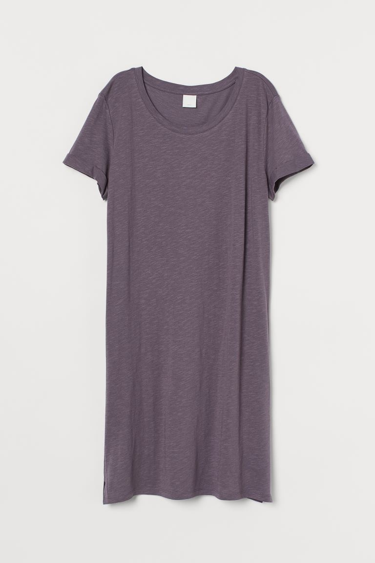 Abito T-shirt in jersey - Malva scuro - DONNA | H&M IT