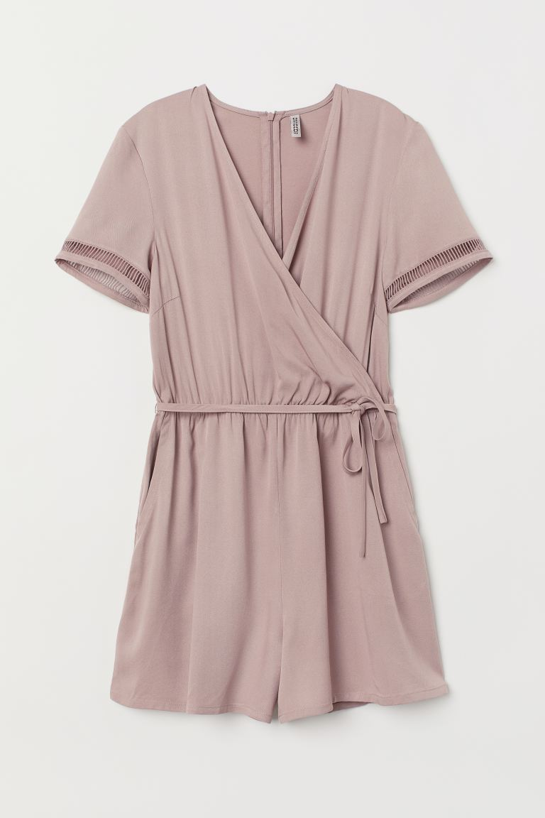 Wrapover playsuit - Heather - Ladies | H&M
