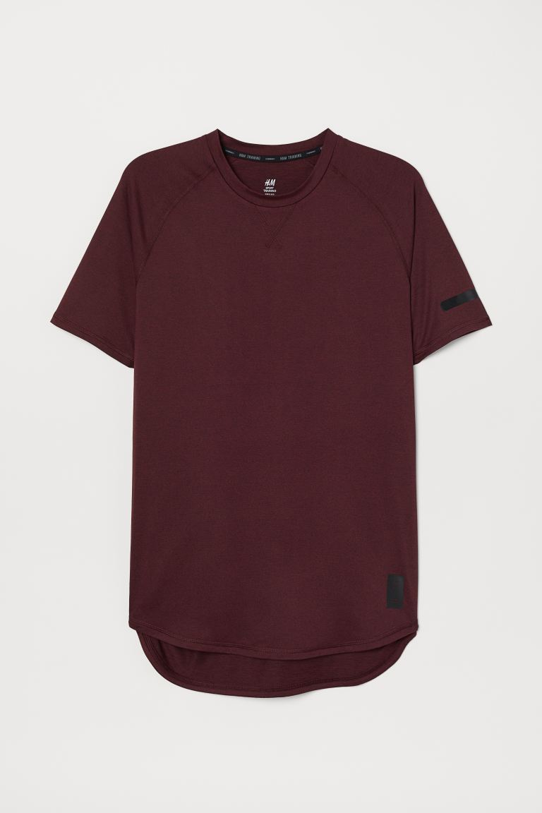 Sports top Loose Fit - Burgundy - Men | H&M IN