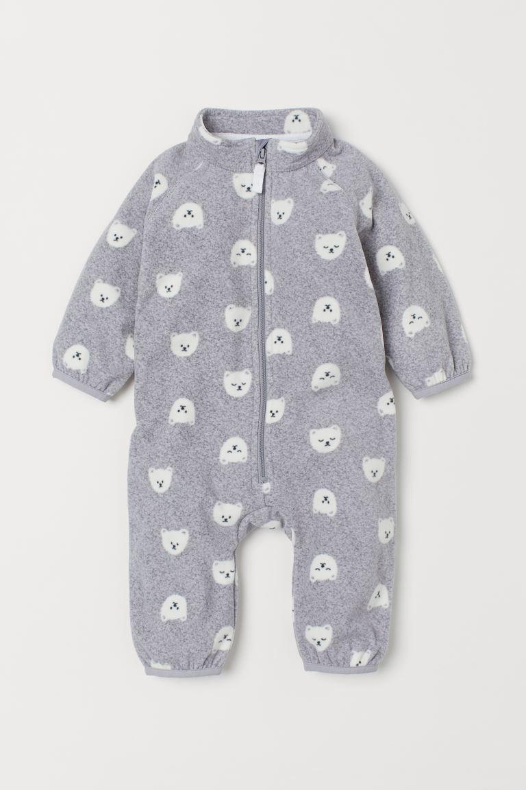 Fleece all-in-one suit