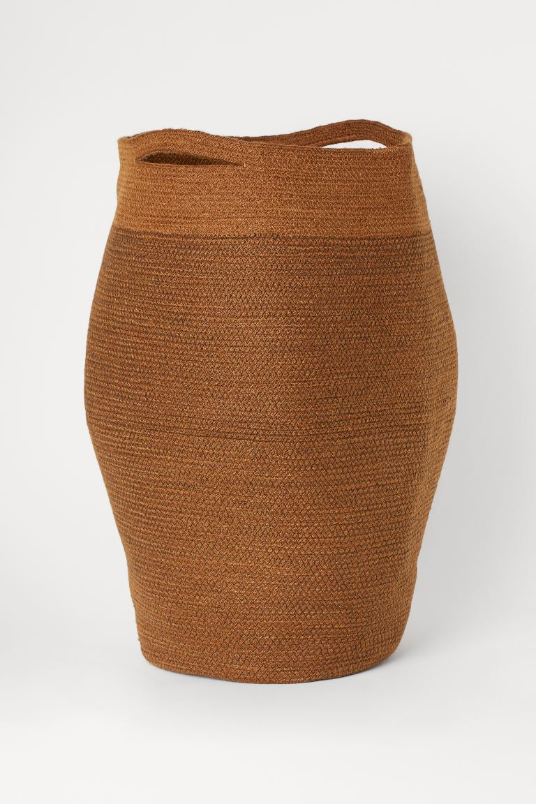 Jute Laundry Basket - Light brown - Home All | H&M US