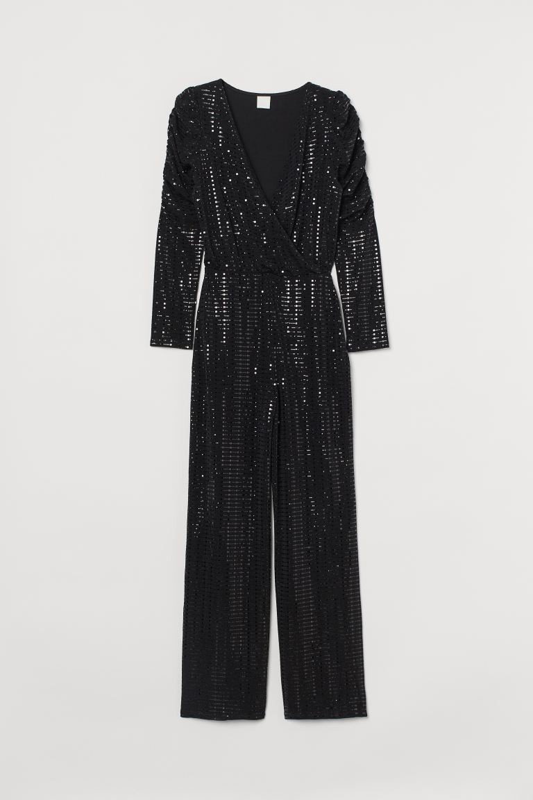Shimmering jumpsuit - Black - Ladies | H&M IE