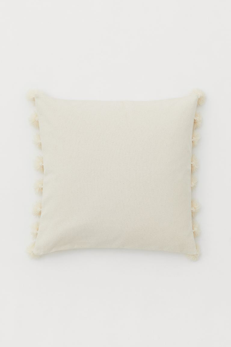 Cushion Cover with Tassels - Light beige - Home All | H&M CA