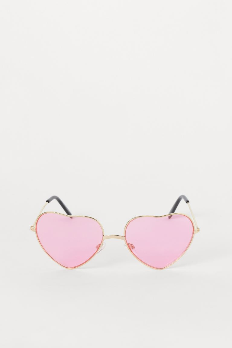 Heart-shaped Sunglasses - Neon pink - Ladies | H&M US