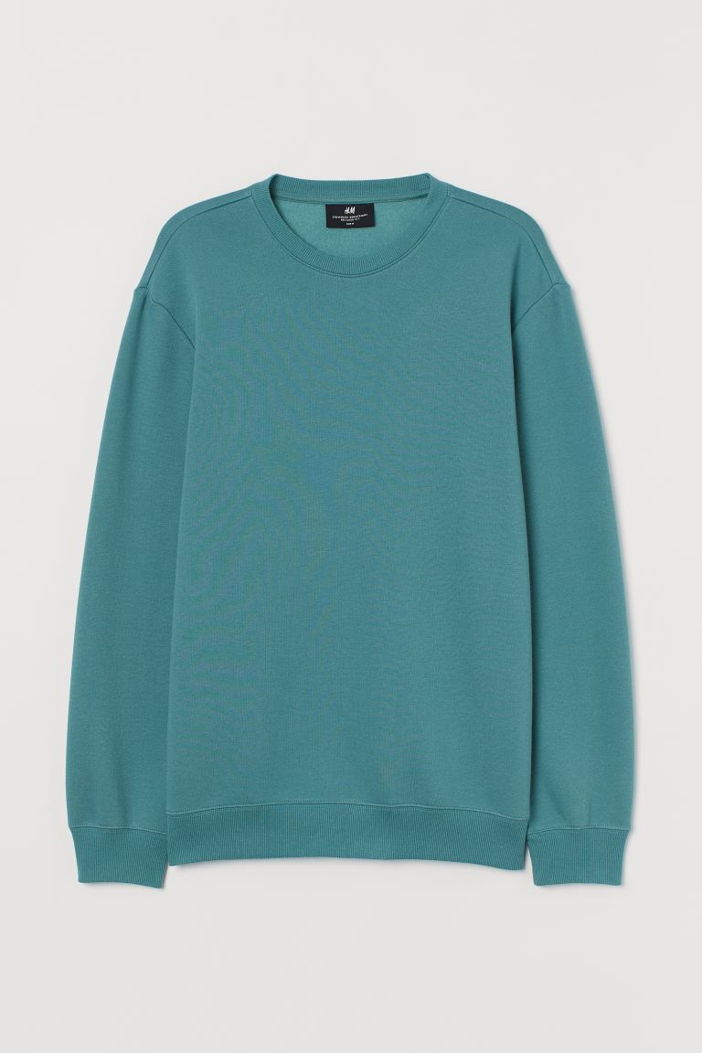 Sweater - Relaxed Fit - Donker mintgroen - HEREN | H&M NL