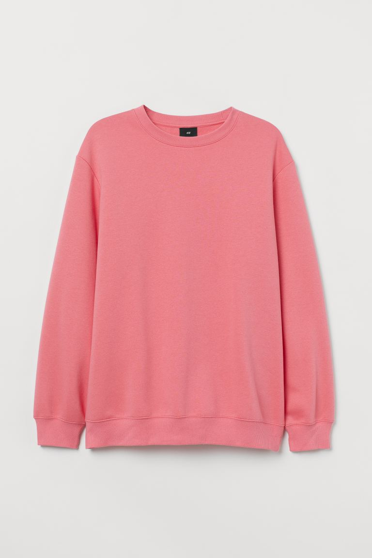 Sweatshirt Relaxed Fit - Pink - Men | H&M