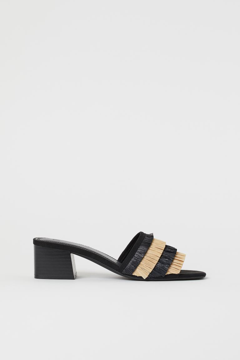 Fringed mules - Black - Ladies | H&M GB