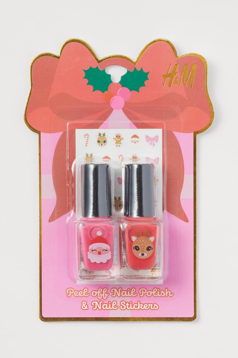 Nail polish and nail stickers