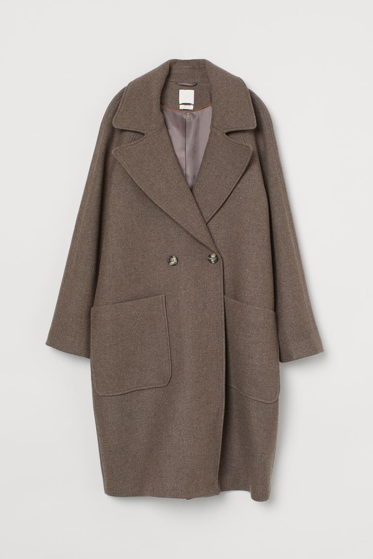 Wool-blend coat - Brown marl - Ladies | H&M GB