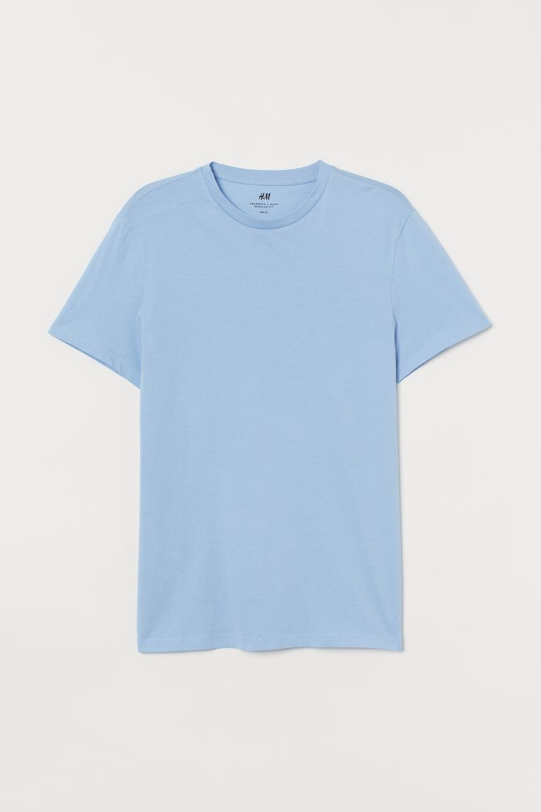 T-shirt Regular fit - Bleu clair - HOMME | H&M FR