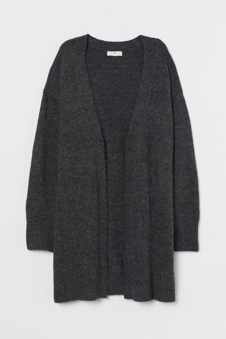 Long Cardigan - Dark gray melange - Ladies | H&M US